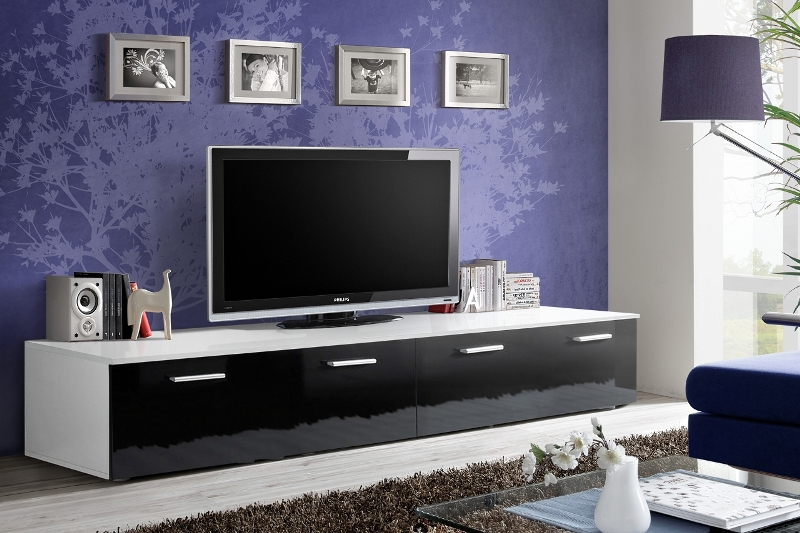 Omega 4 - white and black modern tv stand