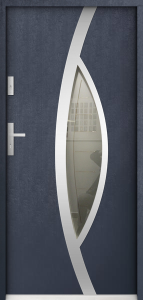 Pegasus - modern external single front door