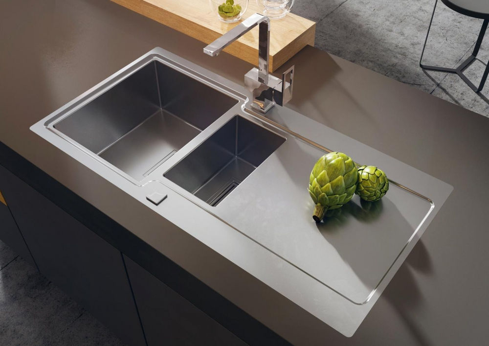 DE-Posper 2 steel kitchen sink
