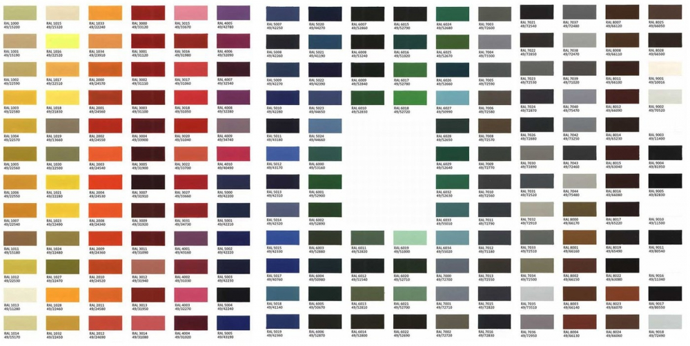 AS- Bespoke Glass Colour Swatches