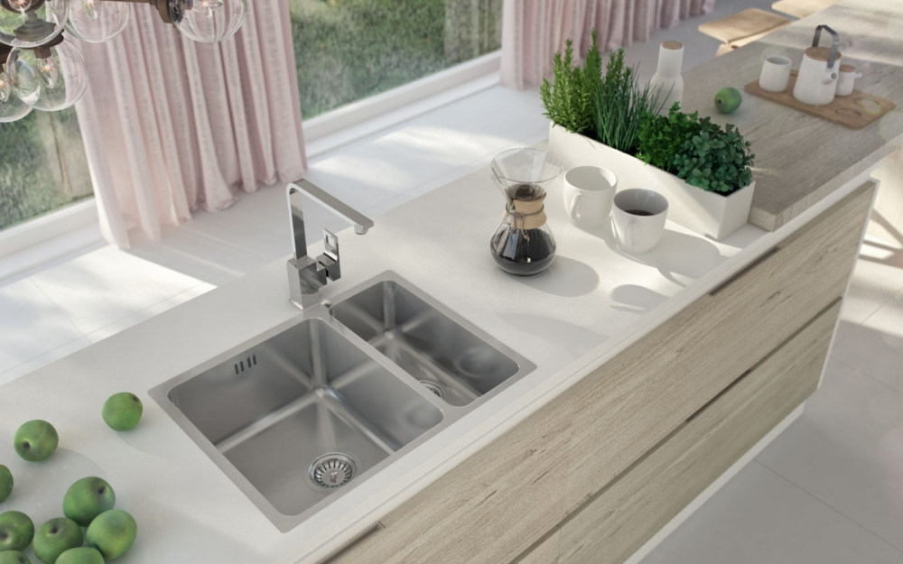 DE-Egri 3 undermount stainless sink