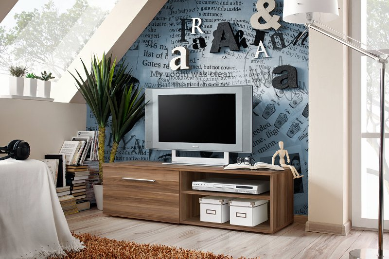 City 2 - Walnut modern tv stand