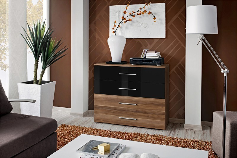 SB GO 2 - Plum and black 4 drawer dresser