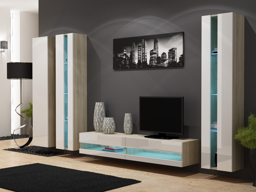 Seattle D2 - living room wall units