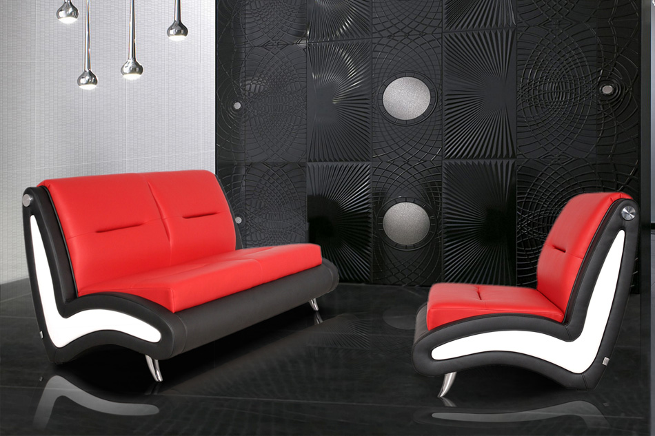 Waveform - 2 seater sofa bed