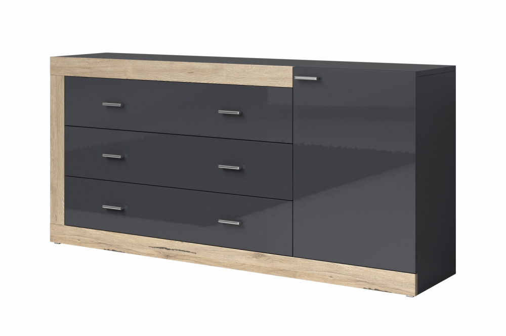 Tessa - contemporary black dresser