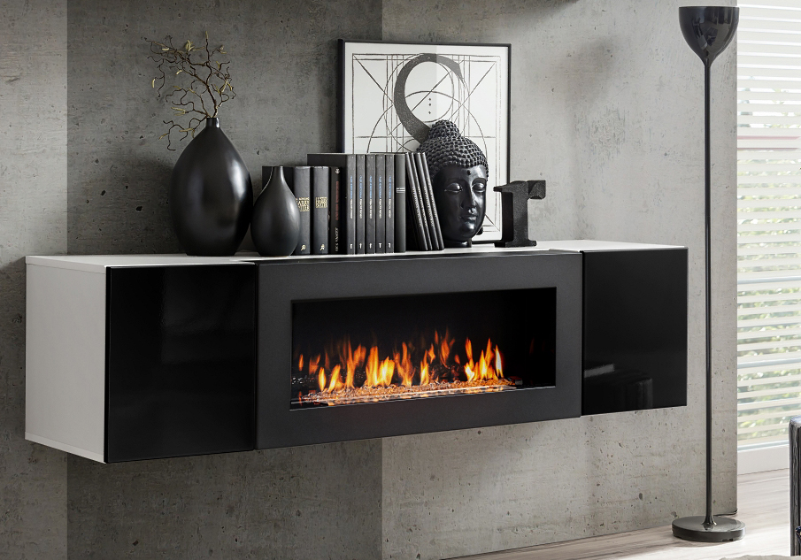 Idea N - TV cabinet with fireplace