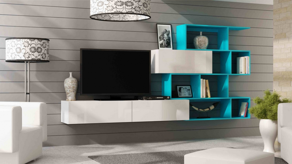 Vero style 3 - blue entertainment center