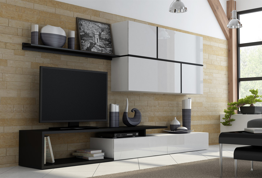 Vila 1 - contemporary entertainment center