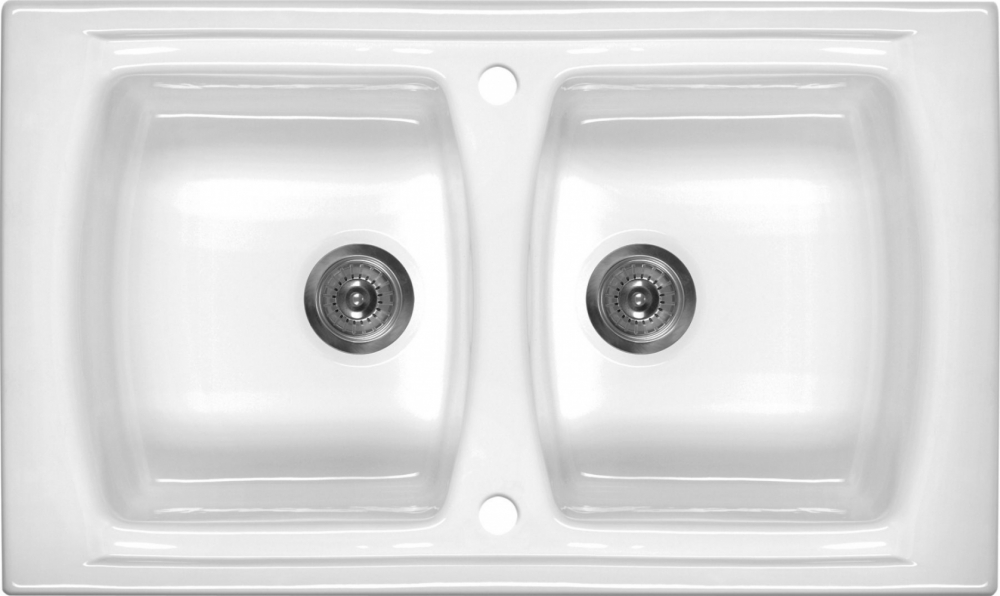 DE-Lustino 3 porcelain kitchen sink