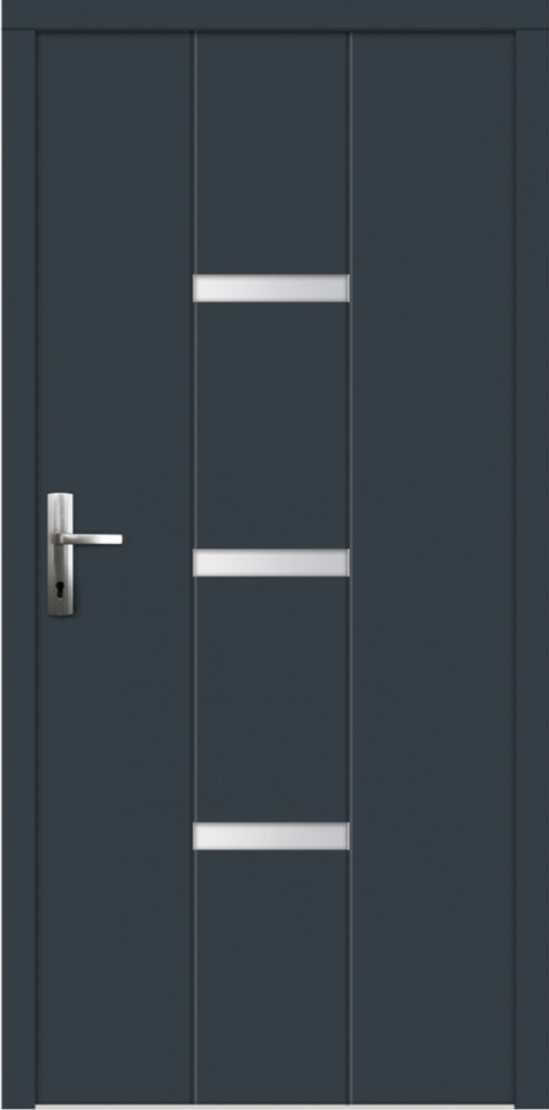 Zattacal - solid wood front door with exterior aluminum cladding