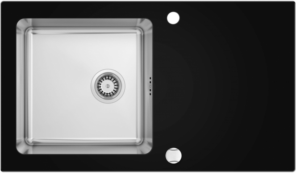 DE-Pass 20 large glass kitchen sink with photo
