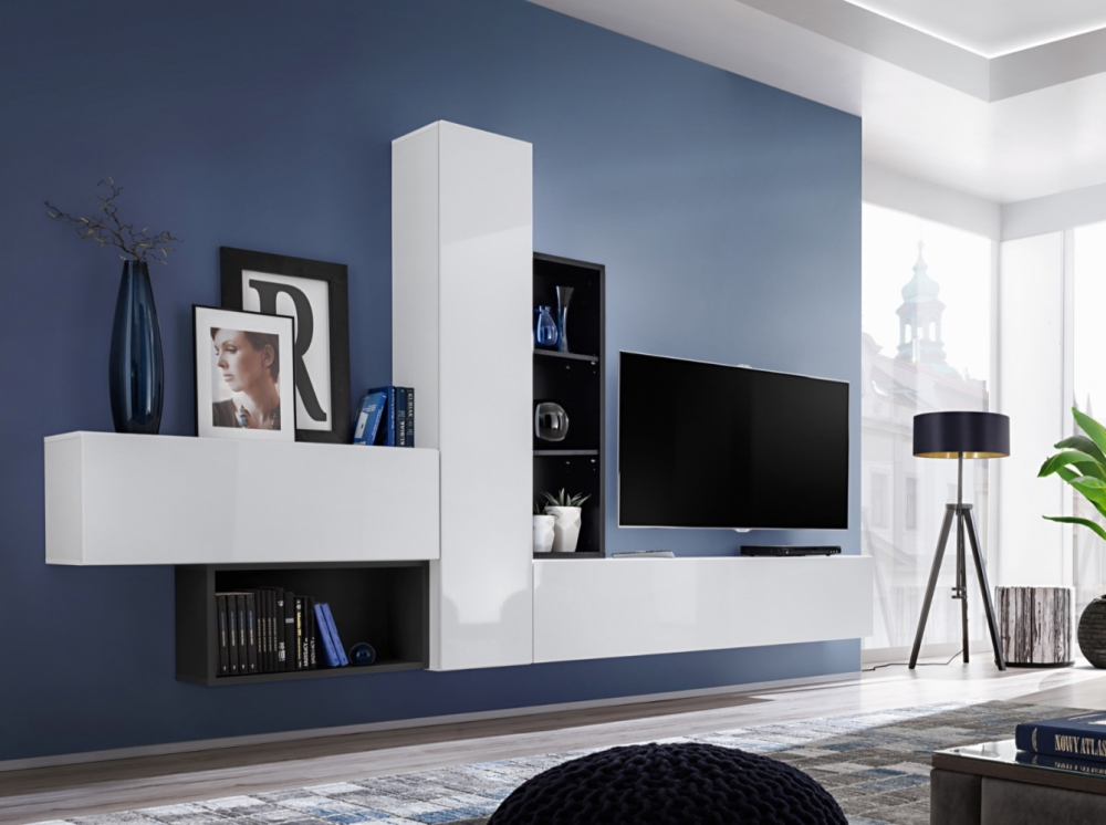 Boise Iv Living Room Wall Unit Entertainment Tv Cabinets Tv Stand Ebay