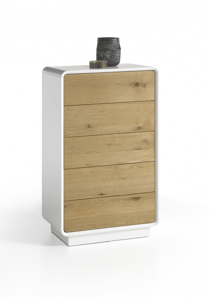 Toulon 7 bedroom 5 drawer dresser contemporary chest - Contemporary bedroom chest of drawers ...