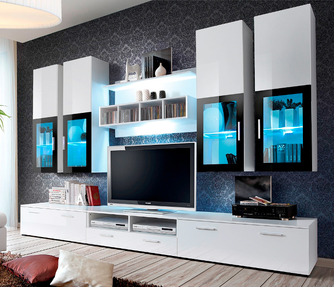 Charmant Details About Presto 1   High Gloss White Modern Tv Unit / Modern  Entertainment Center