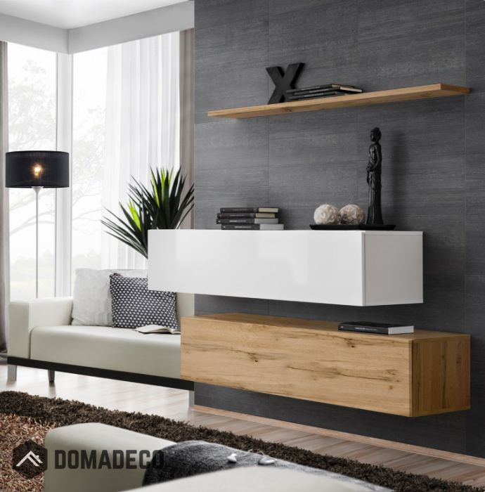 High Gloss Floating Tv Cabinet