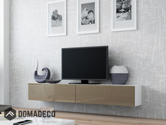 Seattle 21 Modern Tv Wall Unit With High Gloss White Mdf Fronts