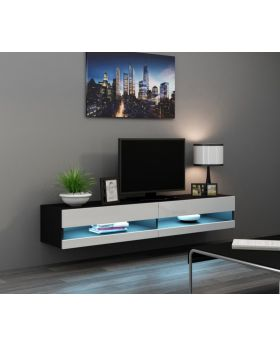Seattle 34 black and white wooden tv stands