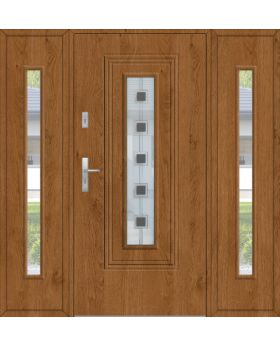 Fargo 6 T - modern front doors with two side panel