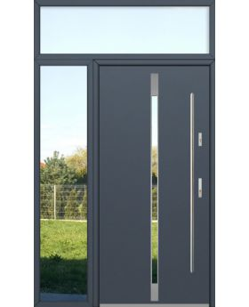 custom configuration - Fargo door with left and top sidelight (view from the outside)