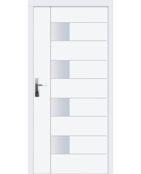 Fermcal - exterior wood entry door with exterior aluminum cladding