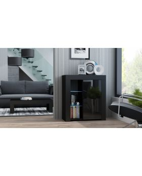 Milano Sideboard 1D  - black affordable black dresser