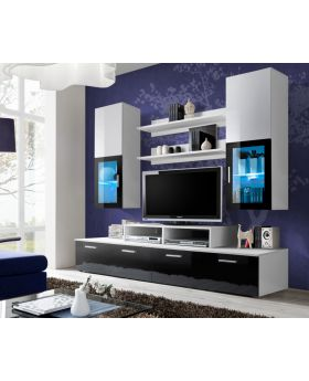 Modern living room entertainment center - solid wood, oak.