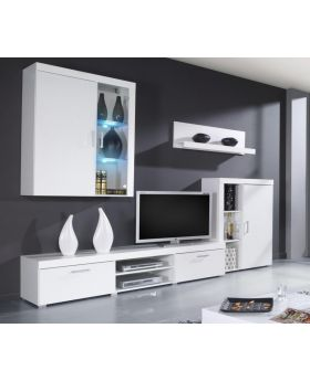 Venice 2 - white tv stand with storage
