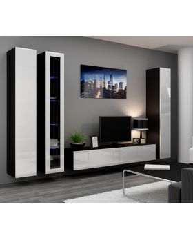 Seattle 1 - black & white entertainment center