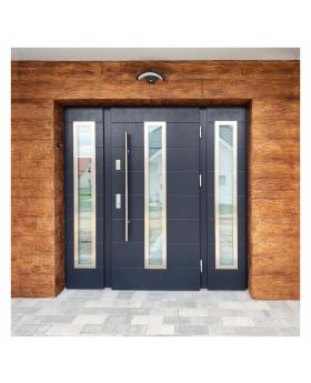 Fargo 12C T - stainless steel front door with two side panels