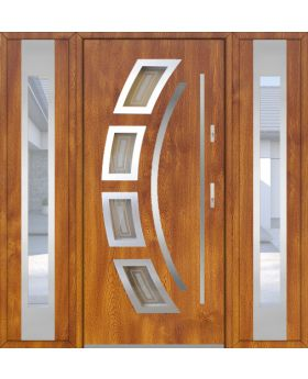 Fargo 21 T - exterior front entry door with 2 sidepanel
