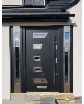 Fargo 23 T - stainless steel door with two sidepanel