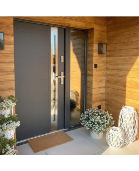 Fargo door with right sidelight (view from the outside) - aluminum entry door
