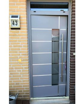 LIM  aluminum entry door with top sidelight
