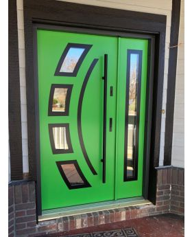 Fargo 21 DB - exterior front entry door with side panel