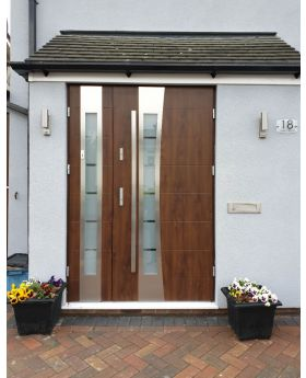 Fargo 37 DB - stainless steel front door with side panels