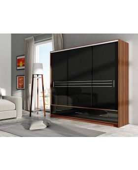 Alva 250 - Plum + black gloss wardrobe