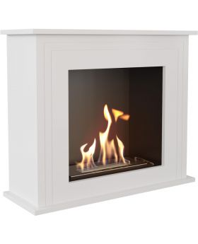 Amarillo - white bioethanol traditional fireplace