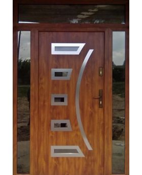 custom configuration - Fargo door with left, right and top sidelights