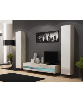 Seattle D8 - solid wood entertainment center