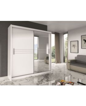 Harlow 203 - White or black modern wardrobe