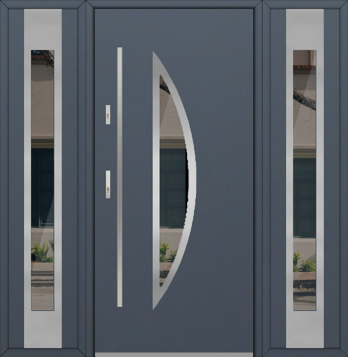 Details About Fargo 22 T Contemporary Front Door With With Sidelites Entrance Door