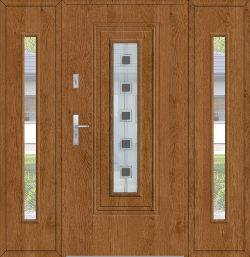 Fargo 6 T Modern Front Doors With Sidelites Double Front Entry