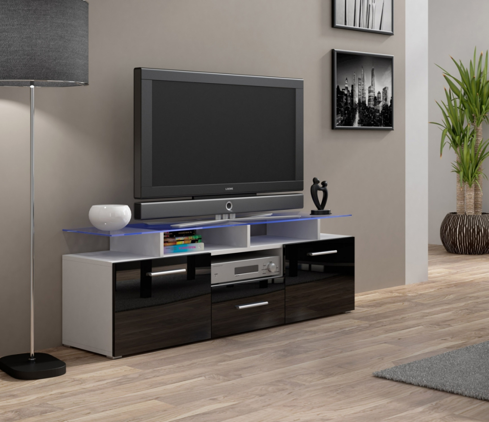 Enea Mini White Modern Tv Stands On Sale With Shelves Tv Console