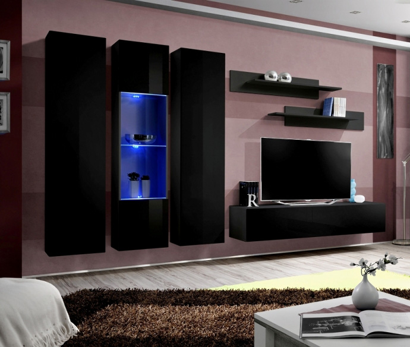 Idea C4 Entertainment Center Cabinet Living Room Wall Unit Modern Tv Stand 827160301460 Ebay
