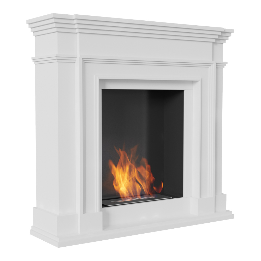 Contemporary Free Standing Electric Fires: Contemporary Bio Ethanol Fireplace / Free