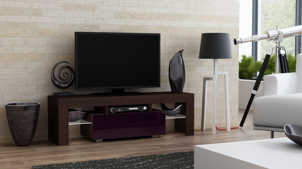 Milano Tv Meubel.Details About Milano 130 Wenge Tv Stand With Shelves Small Living Room Tv Stand Cabinet