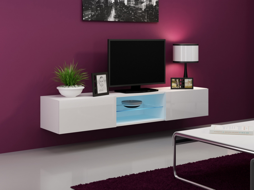 Seattle 41 White Tv Media Stand Living Room Tv Stand