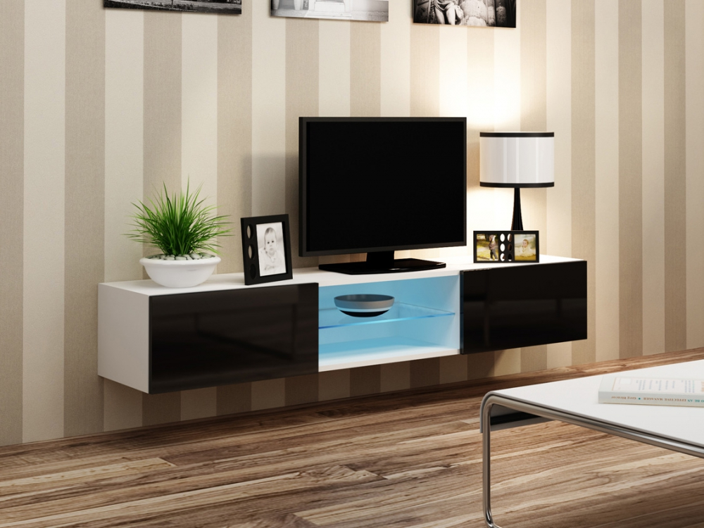 Details About Seattle 42 White Tv Console Table Entertainment Unit Thin Stand