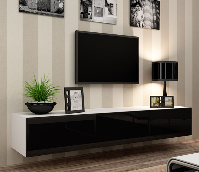 huge selection of 6867f 7dbd4 Details about Seattle 22 - Modern TV wall unit / tv media stand / tv  console table